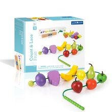 Guidecraft Count and Lace Fruit With Box