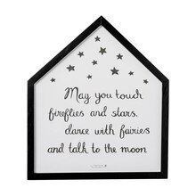 Bloomingville 'May You Touch Fireflies And Stars...' Wall Decor Accent
