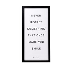 Bloomingville 'Never Regret Something...' Wall Decor Accent