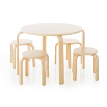 Guidecraft Nordic Table & Chairs, Natural