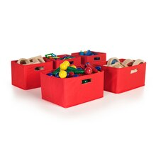 Guidecraft Set of 5 Bins, Red
