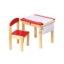 Guidecraft Art Table & Chair Set, Red