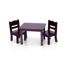 Guidecraft Doll Table & Chair Set, Espresso