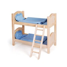 Guidecraft Doll Bunk Bed, Natural