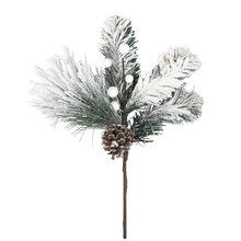 Pinecone, Berry & Snow Christmas Pick Branch By Celebrate It