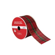 "Bow-Tique™ Plaid Christmas Ribbon By Celebrate It®, 2.5"" x 25ft., medium"