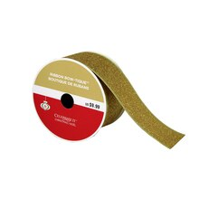 "Bow-Tique Gold Glitter Christmas Ribbon By Celebrate It, 2.5"" x 25ft."