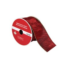 "Bow-Tique Crinkled Burgundy Christmas Ribbon By Celebrate It 2.5"" x 25ft."