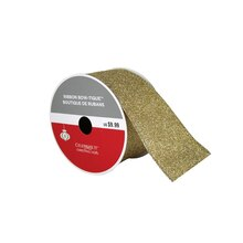 """Bow-Tique Champagne Christmas Ribbon By Celebrate It, 2.5"""" x 25ft."""
