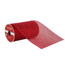 "Premium Red Extra Wide Mesh Ribbon By Celebrate It, 5.5"" x 6yd."