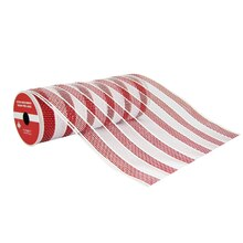 "Peppermint Striped Extra Wide Mesh Ribbon By Celebrate It, 9"" x 6yd"