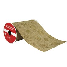 "Gold Glitter Snowflake Extra Wide Ribbon By Celebrate It®, 5.5"" x 6yd., medium"
