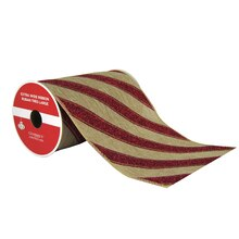 "Peppermint Striped Extra Wide Ribbon By Celebrate It®, 5.5"" x 6yd., medium"