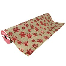 "Red Glitter Snowflake Extra Wide Ribbon By Celebrate It, 19"" x 4yd."