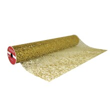 "Gold Chunky Glitter Extra Wide Net Ribbon By Celebrate It, 19"" x 4yd."
