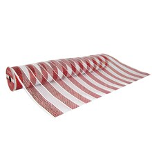 "Red & White Striped Extra Wide Mesh Ribbon By Celebrate It, 19"" x 4yd."
