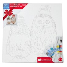 Owl Canvas Painting Kit By Artist's Loft
