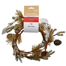 Champagne Pinecone With Berries Garland By Ashland