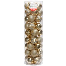 Shimmer Noel Assorted Gold Ball Ornaments By Celebrate It