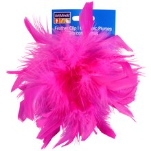 Chandelle Feather Clip By ArtMinds, Pink