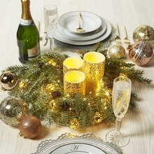 Gold Candle Centerpiece, medium