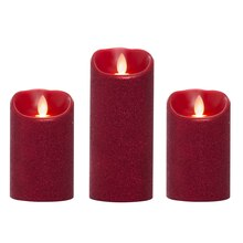 iFlicker Elite™ LED Wax Candles, Red Glitter, medium