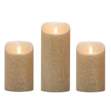 iFlicker Elite LED Wax Candles, Gold Glitter