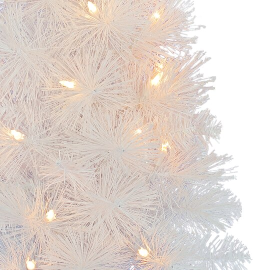 2 ft pre lit white iridescent artificial christmas tree by ashland - Pre Lit White Christmas Tree
