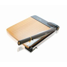 Westcott TrimAir Titanium Wood Guillotine Paper Trimmer w/ Mircroban Protection, 18""