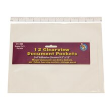 "9.5"" x 12"" Clear Document Pockets, 3 Packs"