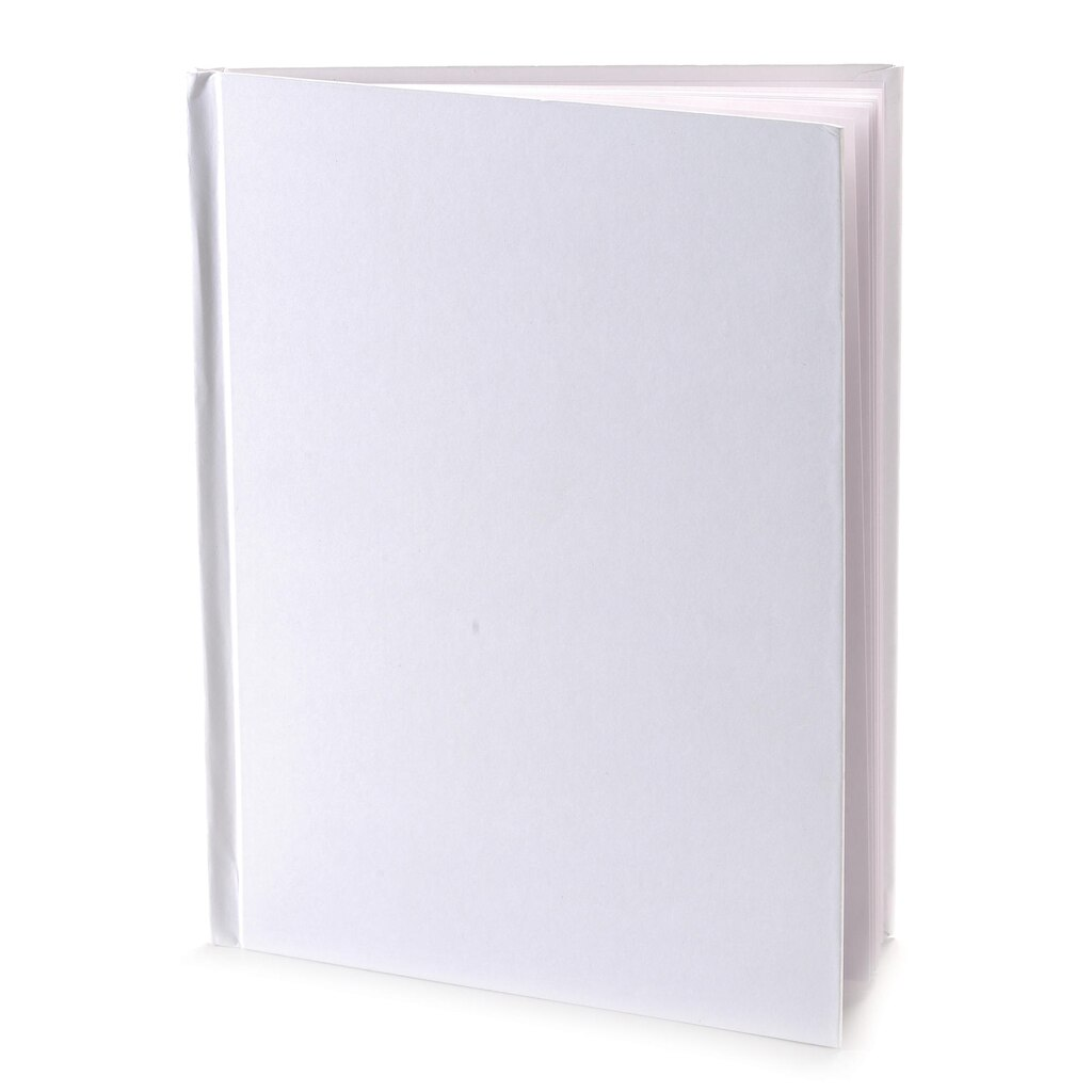 white hardcover blank book 10 count. Black Bedroom Furniture Sets. Home Design Ideas