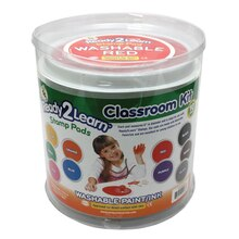 Jumbo Circular Washable Paint/Ink Pad Classroom Kit
