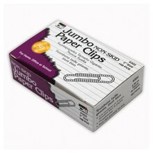 Jumbo Non-Skid, Paper Clips, 30 Boxes of 100