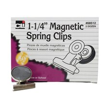 Charles Leonard Magnetic Spring Clips, 2 Boxes of 24
