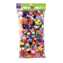 Pound of Assorted Sizes & Colors Poms
