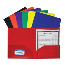 C-Line Two Pocket Poly Portfolio Folders