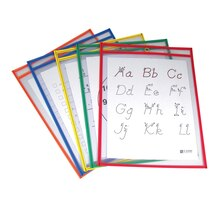 C-Line® Reusable Dry Erase Pockets, Primary Colors