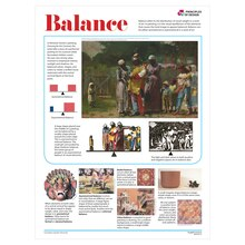 Elements and Principles of Design Posters, Set of 14 Balance