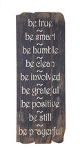 'Be True, Be Smart, Be Humble' Wall Decor