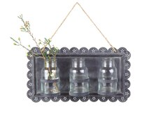 Casual Country Tin Wall Decor w/ Vases