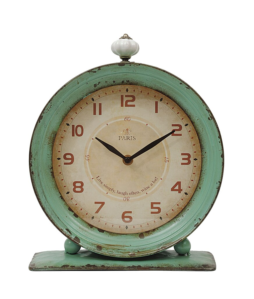Clocks distressed aqua clock distressed jeuxipadfo Images