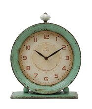 Distressed Aqua Clock