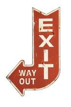 Metal 'Exit' Sign
