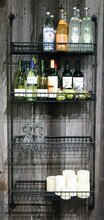 Gatherings 4-Tier Wall Shelf, Black Display