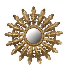 Collected Notions Metal Framed Starburst Mirror, Gold