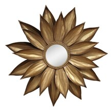 Collected Notions Dahlia Flower Mirror, Gold