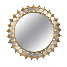Collected Notions Round Mirror, Gold