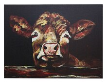 Michelle Foy Sucaet Casual Country Cow Wall Decor