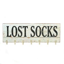 'Lost Socks' Wall Decor with Clothespins