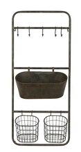 Metal Shelf with Baskets & Hooks
